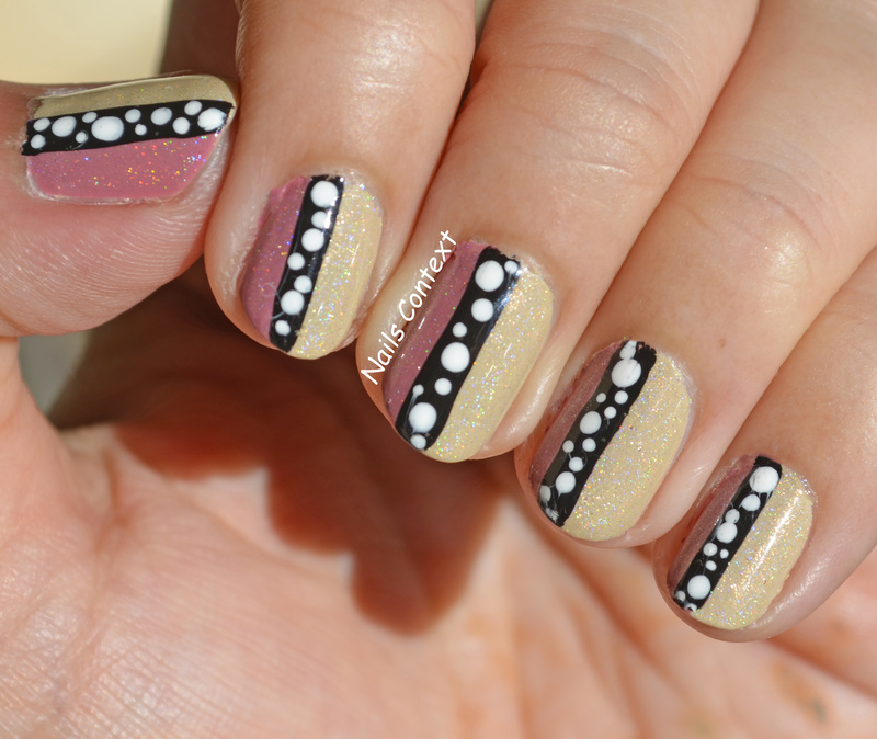 Fall Beige Colorblock Nails  nail art by NailsContext