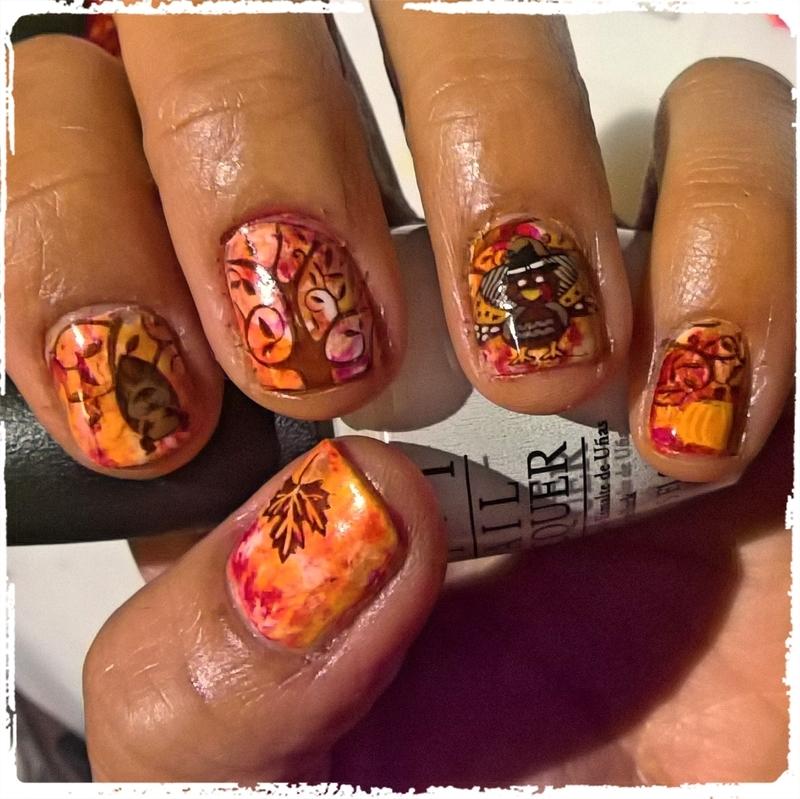 Thanksgiving 🦃 Manicure nail art by Avesur Europa