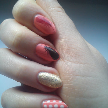 The Four Feathers Of Love nail art by StyleNailsAndYou