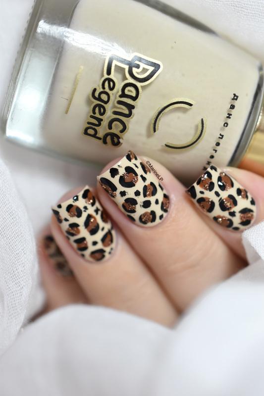 Leopard print (tutorial) nail art by Marine Loves Polish