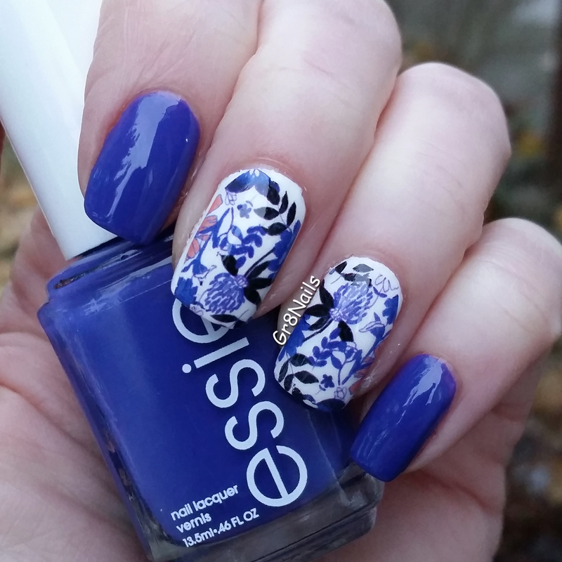 Born Pretty water decals nail art by Gr8Nails
