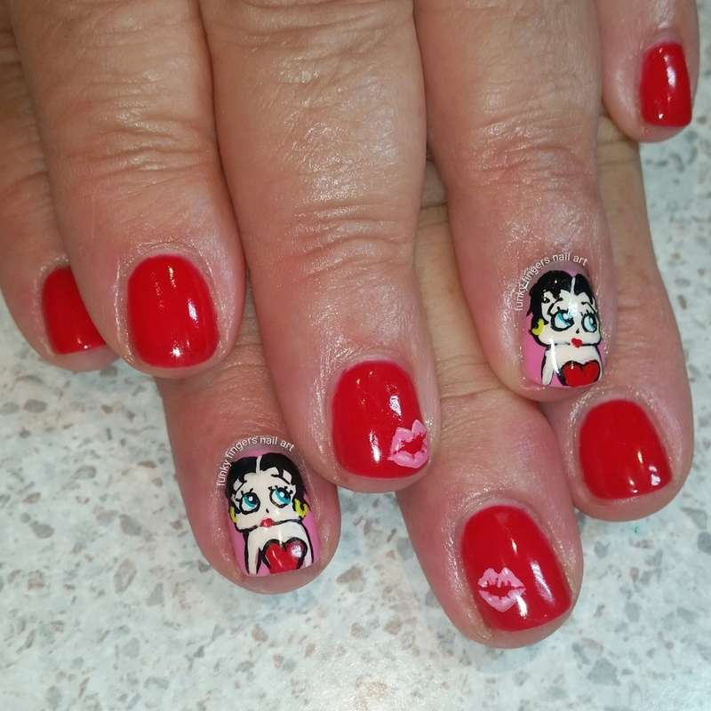 Betty Boop Nails: Betty Boop Nail Art By Funky Fingers Nail Art