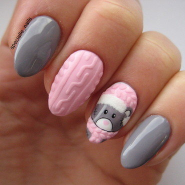Winter bear nail art by specialle