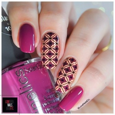 Arabesques nail art by Love Nails Etc