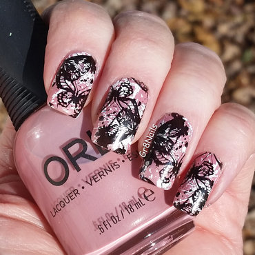 Messy Butterflies  nail art by Gr8Nails