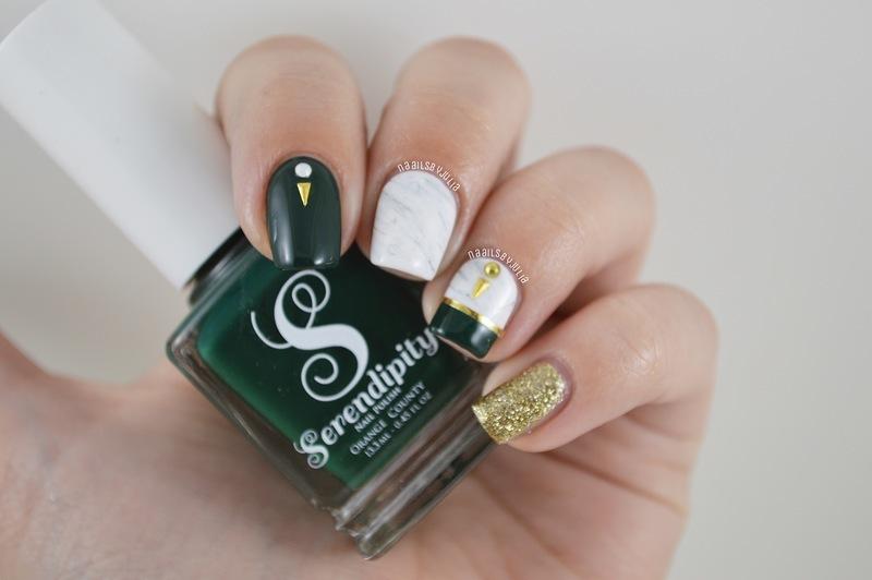 Marble nail art by Julia