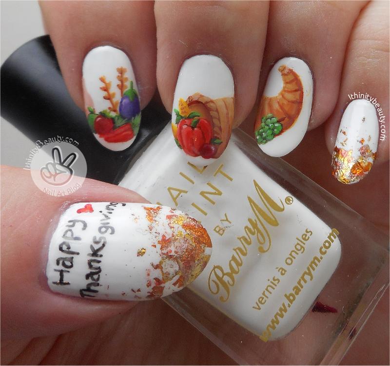 Freehand Thanksgiving Cornucopia nail art by Ithfifi Williams ...