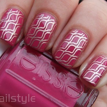 Essie Fiesta with stamping nail art by nail_style