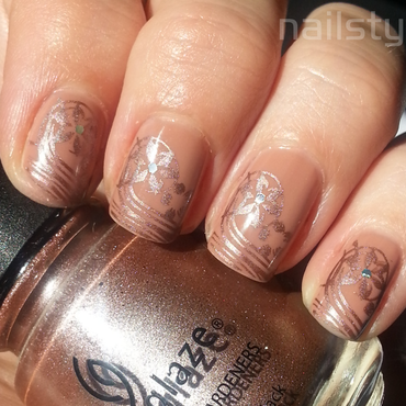 OPI San Tan-tonio with stamping nail art by nail_style