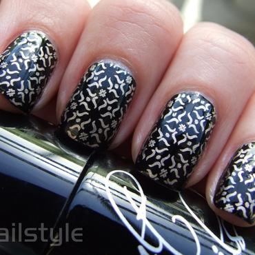 Cult Nails Nevermore stamped nail art by nail_style