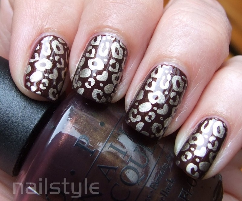 OPI Espresso Your Style stamped nail art by nail_style