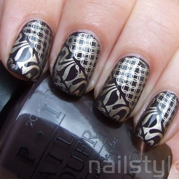 OPI I Brake for Manicures nail art by nail_style