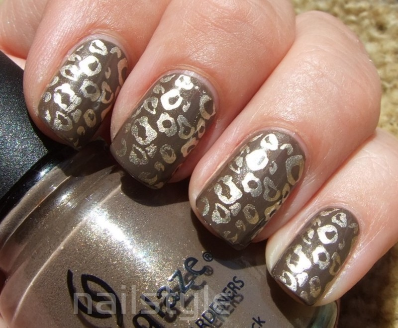 China Glaze Ingrid stamped nail art by nail_style