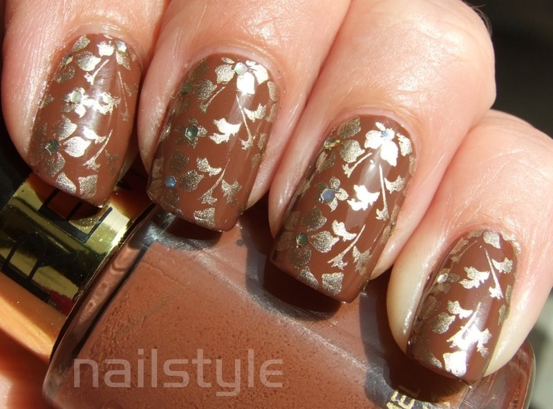 Revlon Totally Toffee with stamping nail art by nail_style
