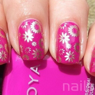Zoya Charisma with stamping nail art by nail_style