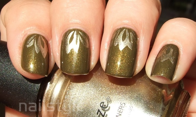 Cult Nails In a Trance with stamping nail art by nail_style