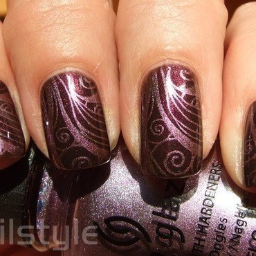 Cult Nails Enigmatic with stamping nail art by nail_style