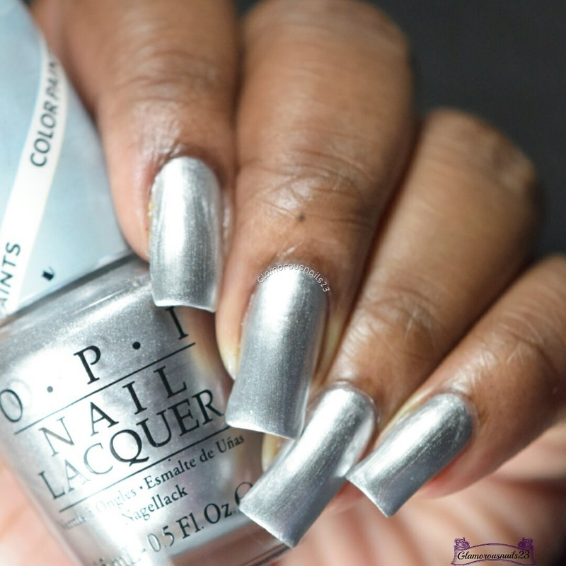 OPI Silver Canvas Swatch by glamorousnails23