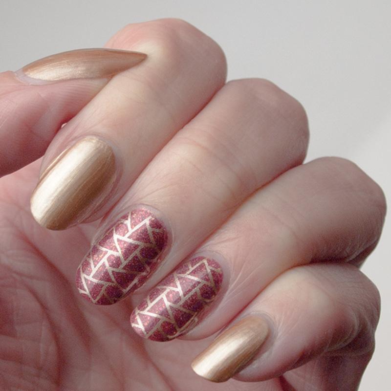 Rusty treasure nail art nail art by What's on my nails today?
