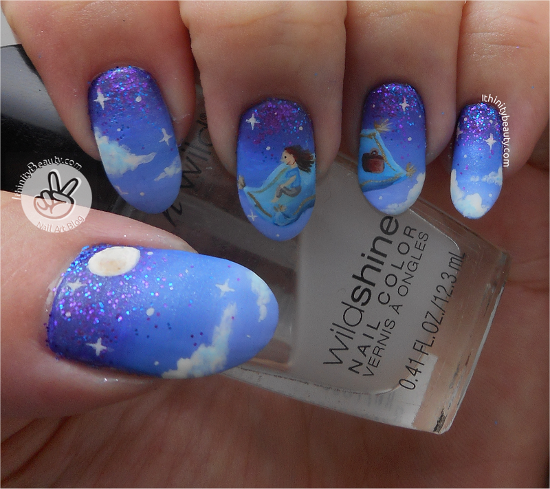 Going Home! Freehand Magic Flying Carpet Nail Art nail art by Ithfifi Williams