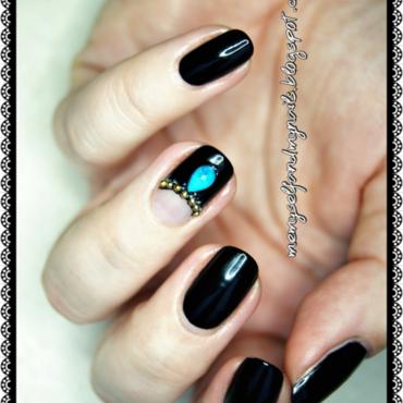 Turquoise nail art by ELIZA OK-W