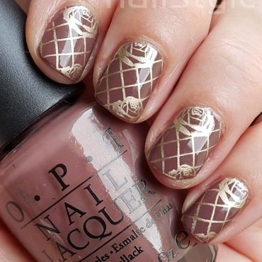 OPI Wooden Shoe Like to Know with stamping nail art by nail_style