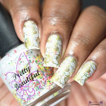 Clairestelle8 November 2016 Day 8 - Leaves nail art by glamorousnails23