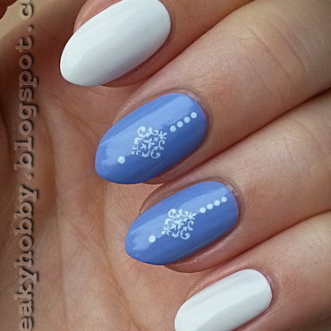 Vintage Damask Water Decals 3 nail art by Mgielka M