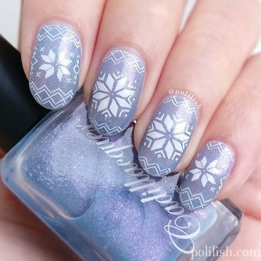 Winter snowflake nails nail art by polilish