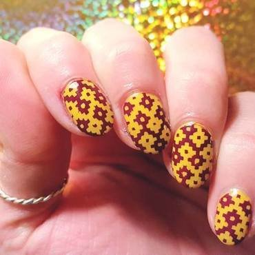 Indian Summer nail art by Alisha Worth