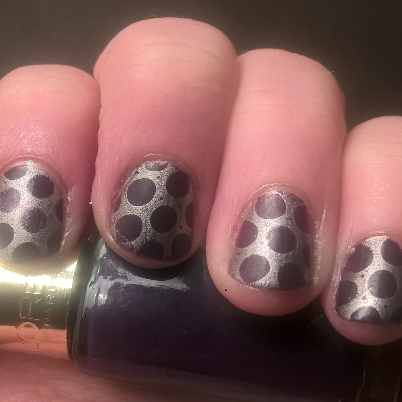 Polka Dot Nails nail art by Sazjay