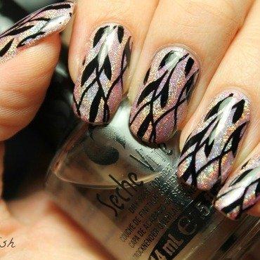 Grow through the holo nail art by Kay's Polish