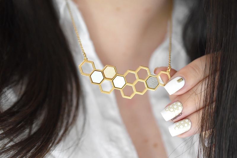 Hexagon nail art by Marine Loves Polish