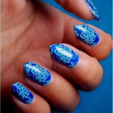 Sapphire elegance nail art by notcopyacat