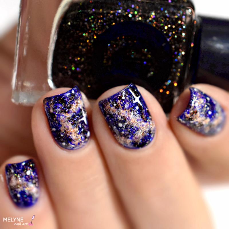 Galaxy nails nail art by melyne nailart