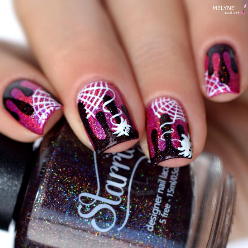 Halloween Girly  nail art by melyne nailart