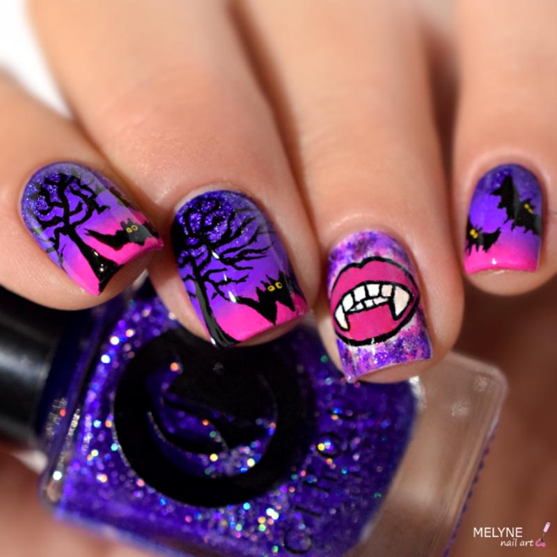 Nail art chica Vampiro nail art by melyne nailart