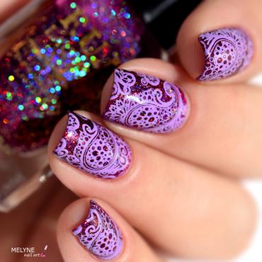 Paisley stamping nail art by melyne nailart