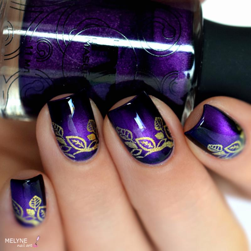 magnetic and stamping nail art nail art by melyne nailart