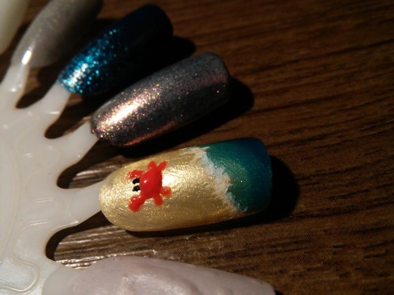 Crabby  nail art by NaNails