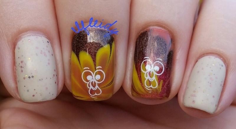 #watermarblepracticewed 11-23-2016 nail art by Jenette Maitland-Tomblin