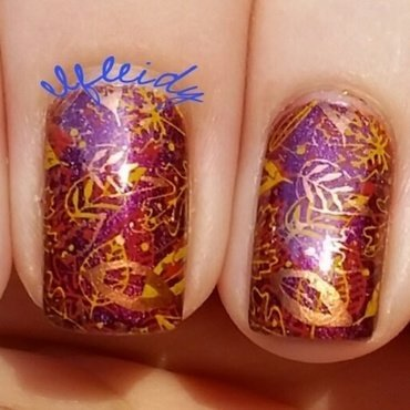 #NailCraziesUnite 11-18-2016 nail art by Jenette Maitland-Tomblin