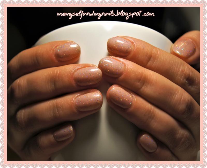 Sparkling nude nail art by ELIZA OK-W