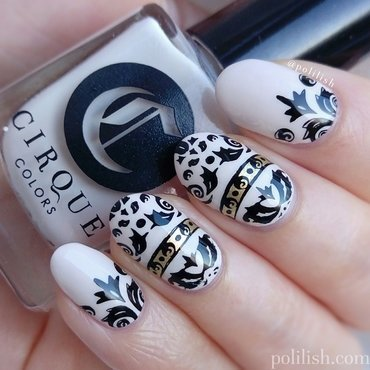 Ornate damask nail art nail art by polilish
