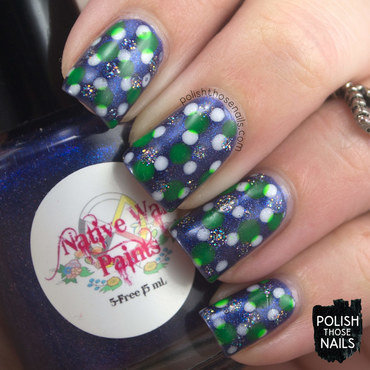 Dotted At Midnight nail art by Marisa  Cavanaugh