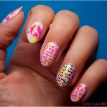 Graffiti nails nail art by notcopyacat