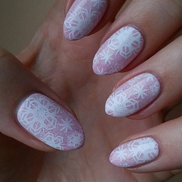 First Snow! nail art by Mgielka M