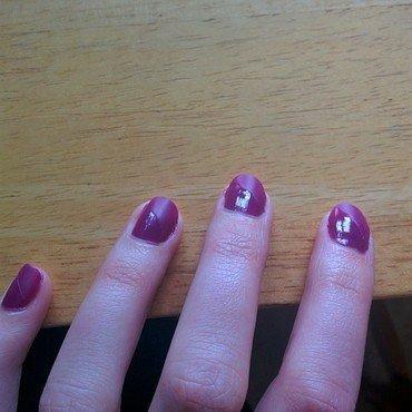 Half Matte Half Shine nail art by PortoLover
