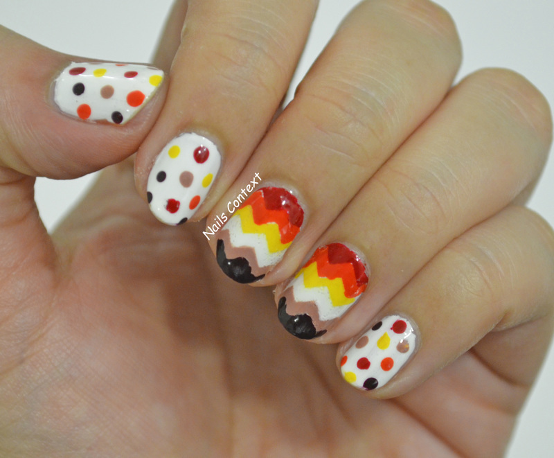 Fall Chevron Nails  nail art by NailsContext