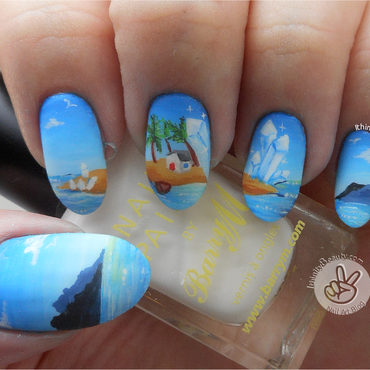 Crystal Island nail art by Ithfifi Williams